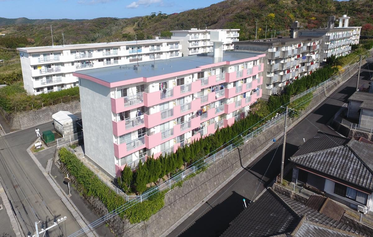 施工実績 建築事業|市営住宅(桜が丘団地1号棟)外壁等改修工事