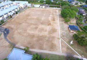 施工実績 土木舗装事業|榕城小学校グラウンド排水設備工事