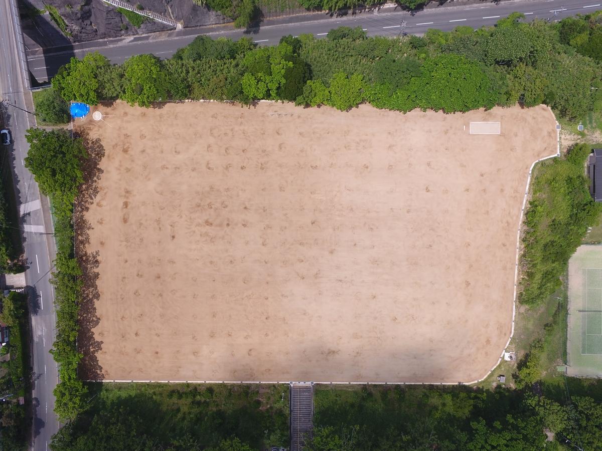 施工実績 土木舗装事業|支援土木事業運動場整備工事(種子島高校R2-2工区)